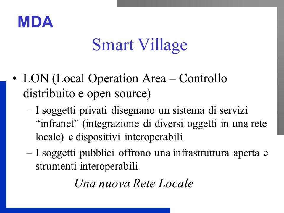 MDA Smart Village LON (Local Operation Area – Controllo distribuito e open source) –I soggetti privati disegnano un sistema di servizi infranet (integ