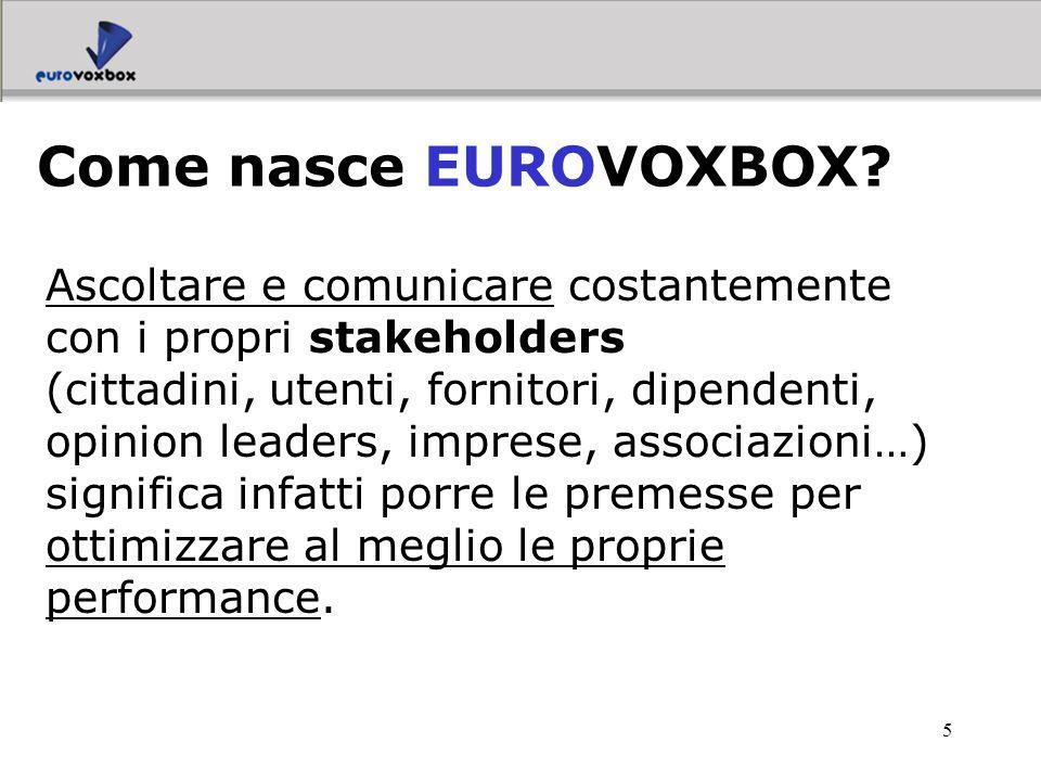 6 la possibilità di ascoltare il cittadino in qualsiasi momento e su qualsiasi argomento ascoltare, comunicare e promuovere la partecipazione alla vita democratica EUROVOXBOX offre proprio questo: