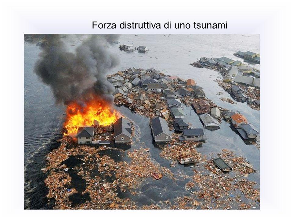 Forza distruttiva di uno tsunami