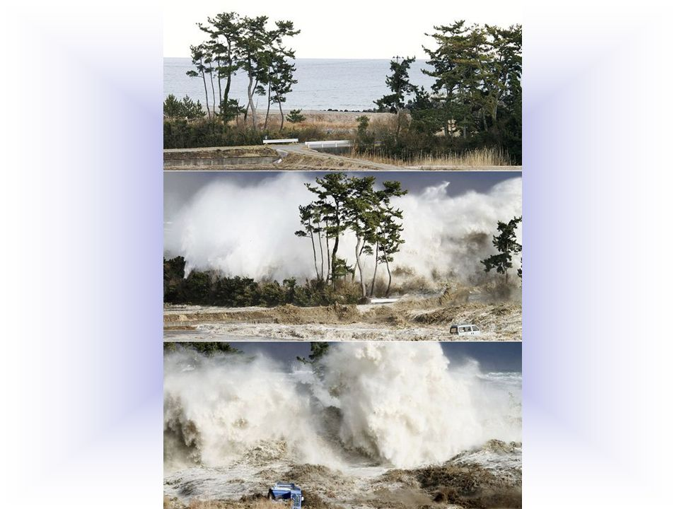 Solitamente uno tsunami si produce con notevole violenza.