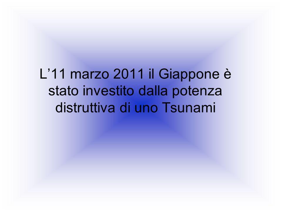 L11 marzo 2011 il Giappone è stato investito dalla potenza distruttiva di uno Tsunami