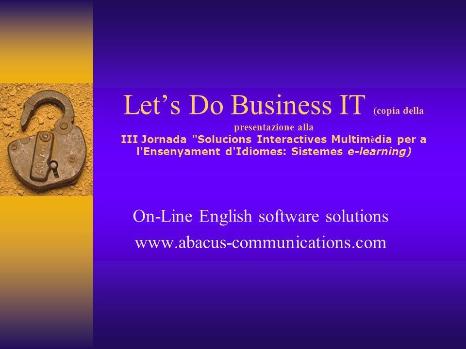 Lets Do Business IT (copia della presentazione alla III Jornada