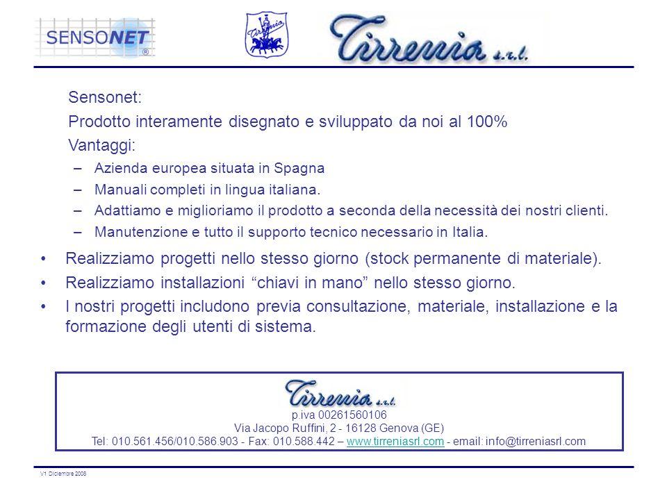 V1 Diciembre 2008 p.iva 00261560106 Via Jacopo Ruffini, 2 - 16128 Genova (GE) Tel: 010.561.456/010.586.903 - Fax: 010.588.442 – www.tirreniasrl.com -