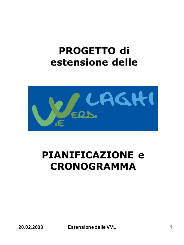 20.02.2008Estensione delle VVL1 PROGETTO di estensione delle PIANIFICAZIONE e CRONOGRAMMA
