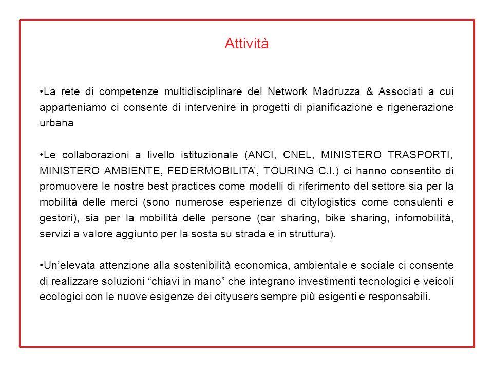 Attività La rete di competenze multidisciplinare del Network Madruzza & Associati a cui apparteniamo ci consente di intervenire in progetti di pianifi