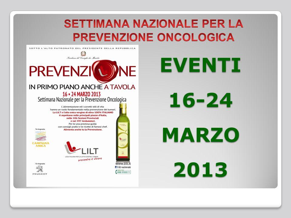 EVENTI 16-24 MARZO 2013