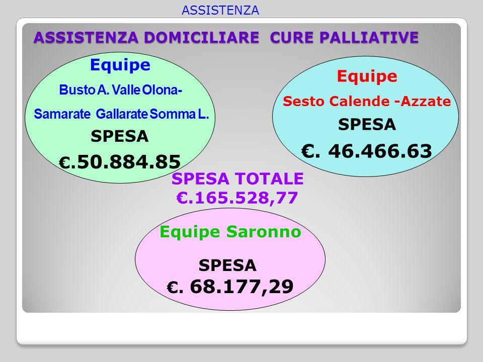 ASSISTENZA DOMICILIARE CURE PALLIATIVE Equipe Saronno SPESA.