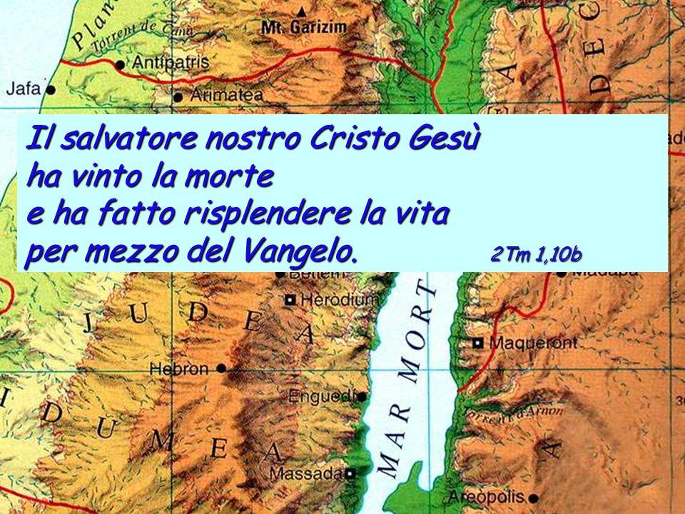 Il salvatore nostro Cristo Gesù ha vinto la morte e ha fatto risplendere la vita per mezzo del Vangelo.