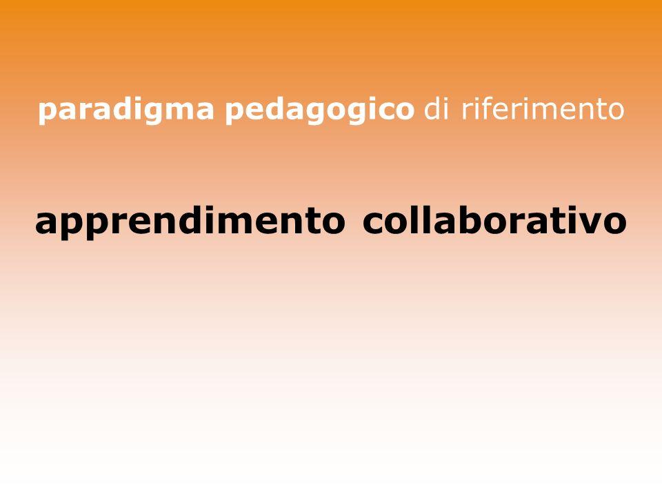 paradigma pedagogico di riferimento apprendimento collaborativo