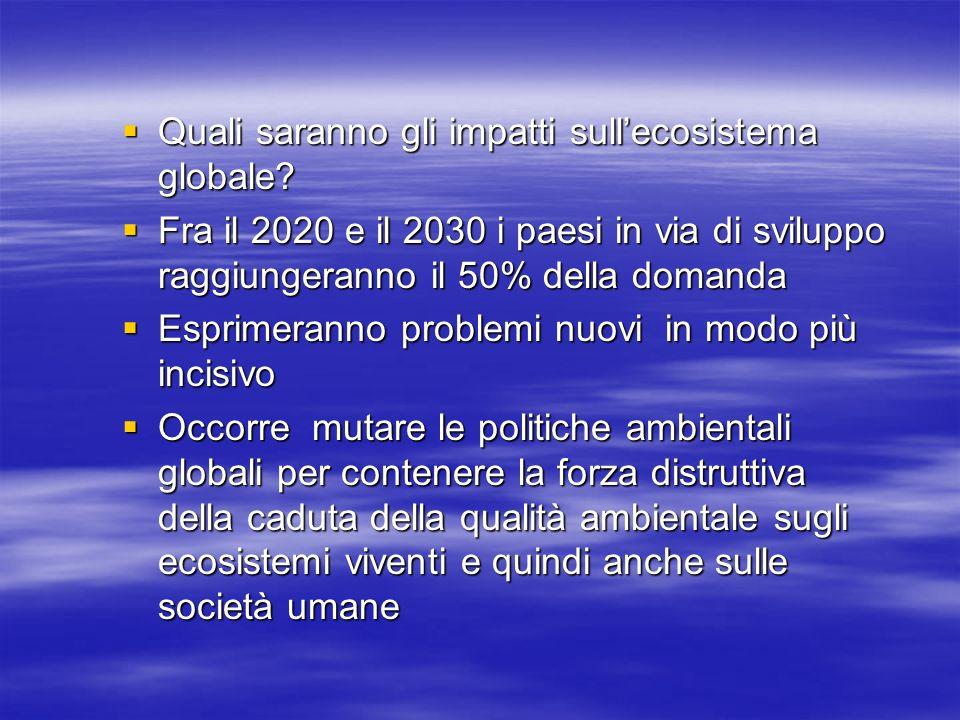 Quali saranno gli impatti sullecosistema globale. Quali saranno gli impatti sullecosistema globale.