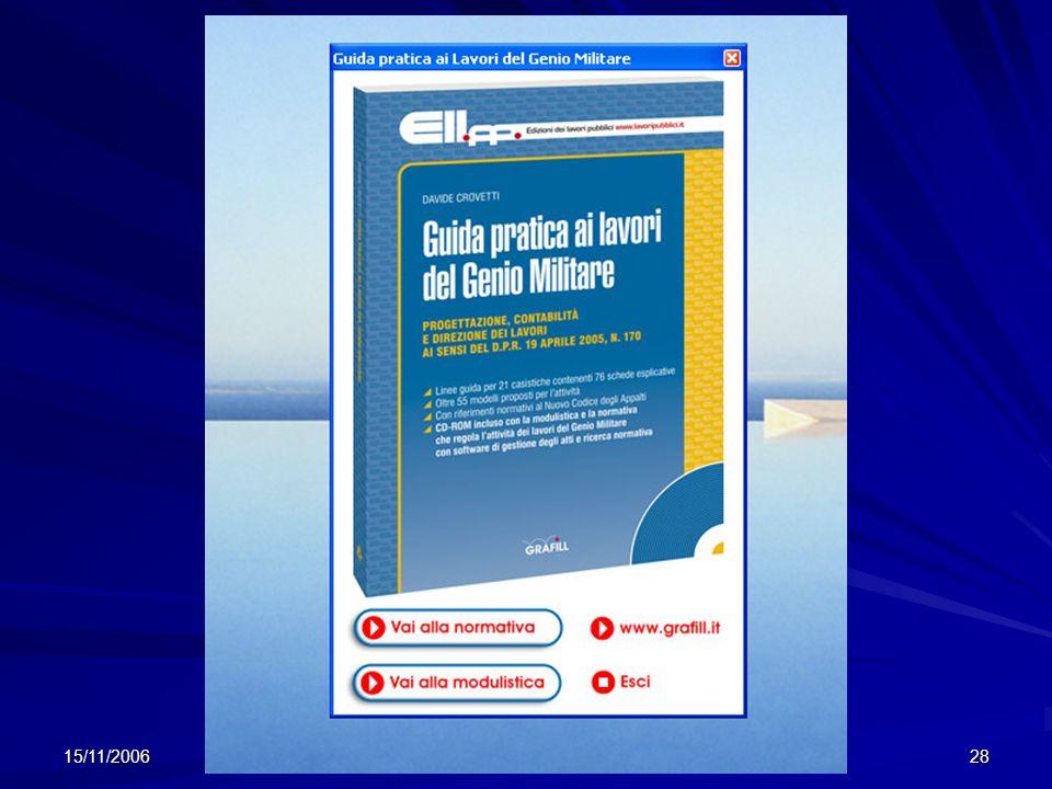 15/11/2006 Guida Pratica al DPR 170/05 - Crovetti 28 CD ROM