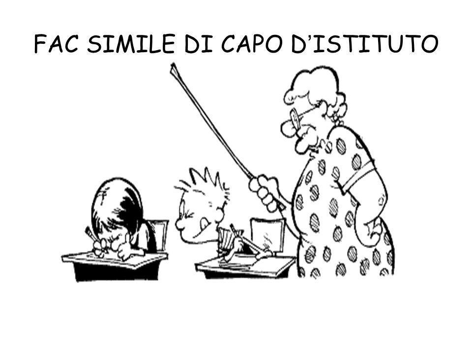 FAC SIMILE DI CAPO DISTITUTO