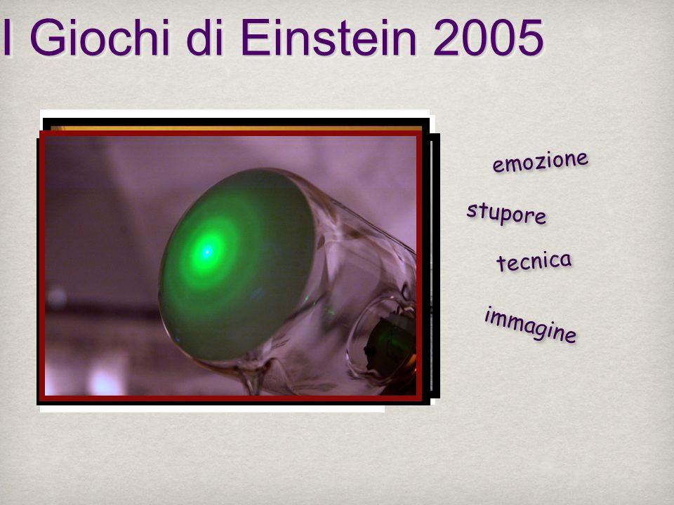 emozione stupore tecnica immagine I Giochi di Einstein 2005