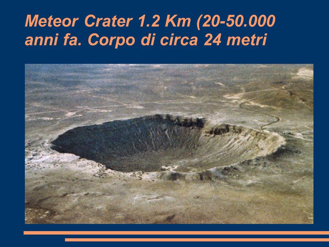 Meteor Crater 1.2 Km (20-50.000 anni fa. Corpo di circa 24 metri