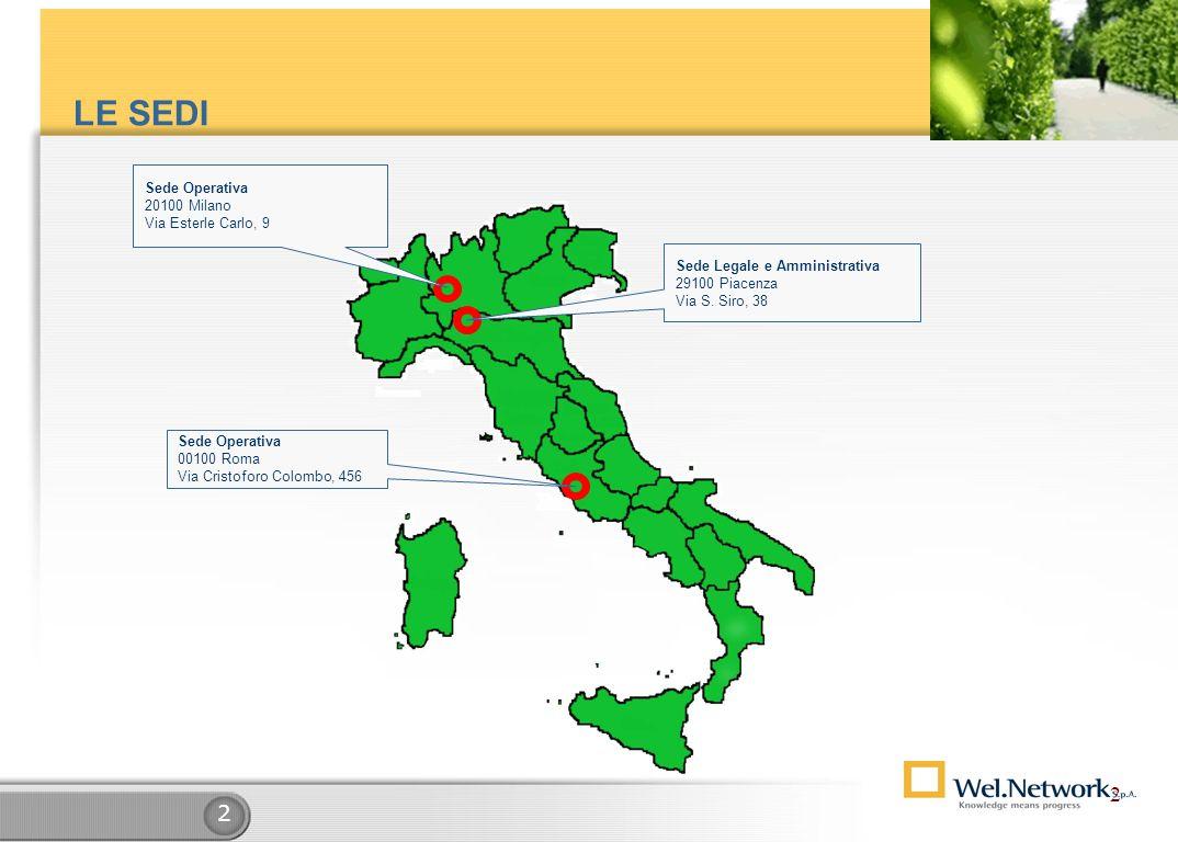 2 2 Sede Operativa 20100 Milano Via Esterle Carlo, 9 Sede Legale e Amministrativa 29100 Piacenza Via S.