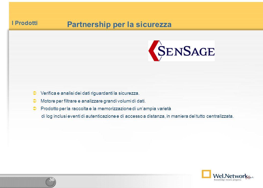 29 I Prodotti Swing Project è indispensabile al Top Management : Un unico DB aziendale con le informazioni di tutti i Progetti Situazioni in tempo rea