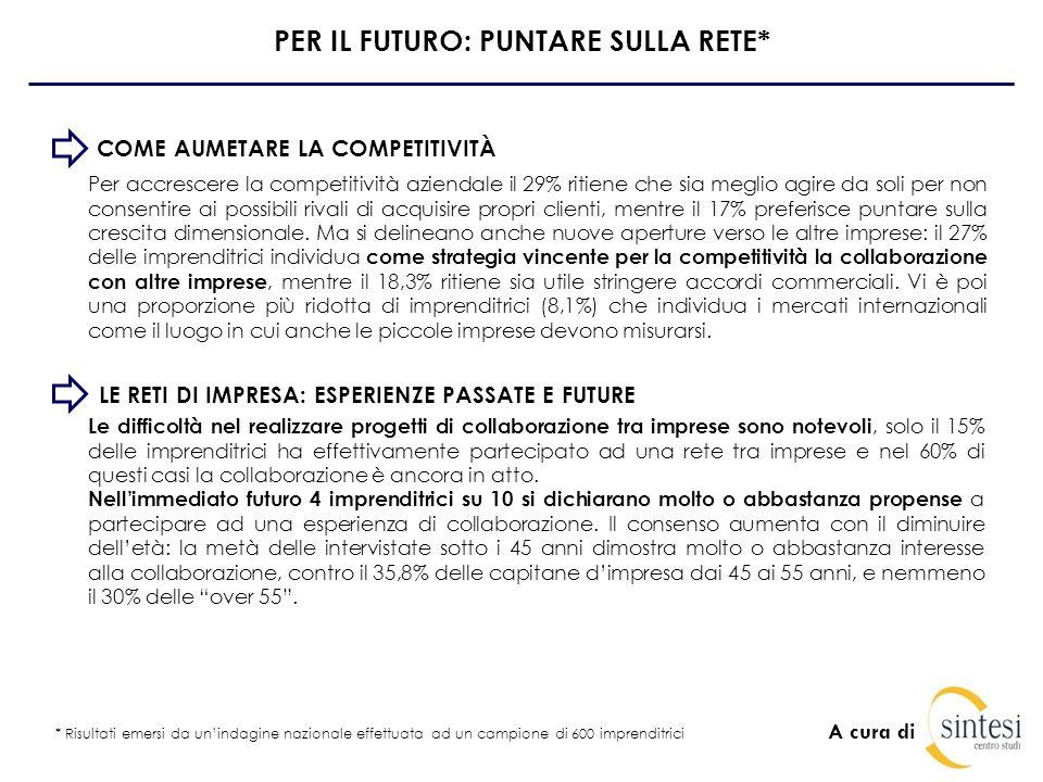 A cura di LE POTENZIALITÀ FEMMINILI IN EMILIA ROMAGNA INDICATORE POTENZIALITÀ IN ROSA: EMILIA ROMAGNA AL 5° POSTO Lindicatore cerca di individuare le regioni italiane dove si esprime il maggior potenziale femminile.