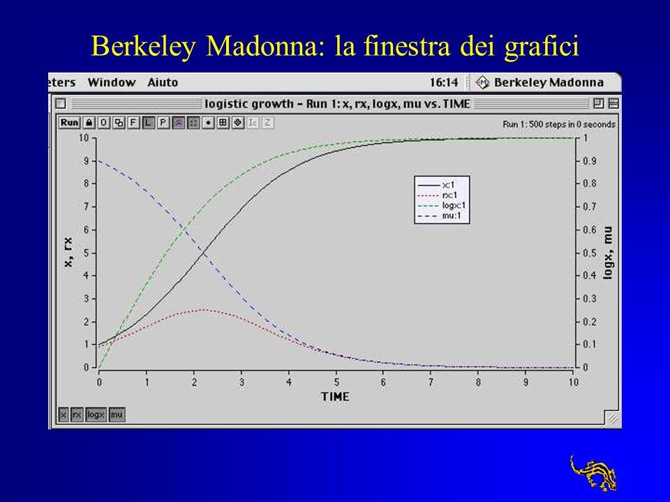 Berkeley Madonna: la finestra del diagramma di flusso