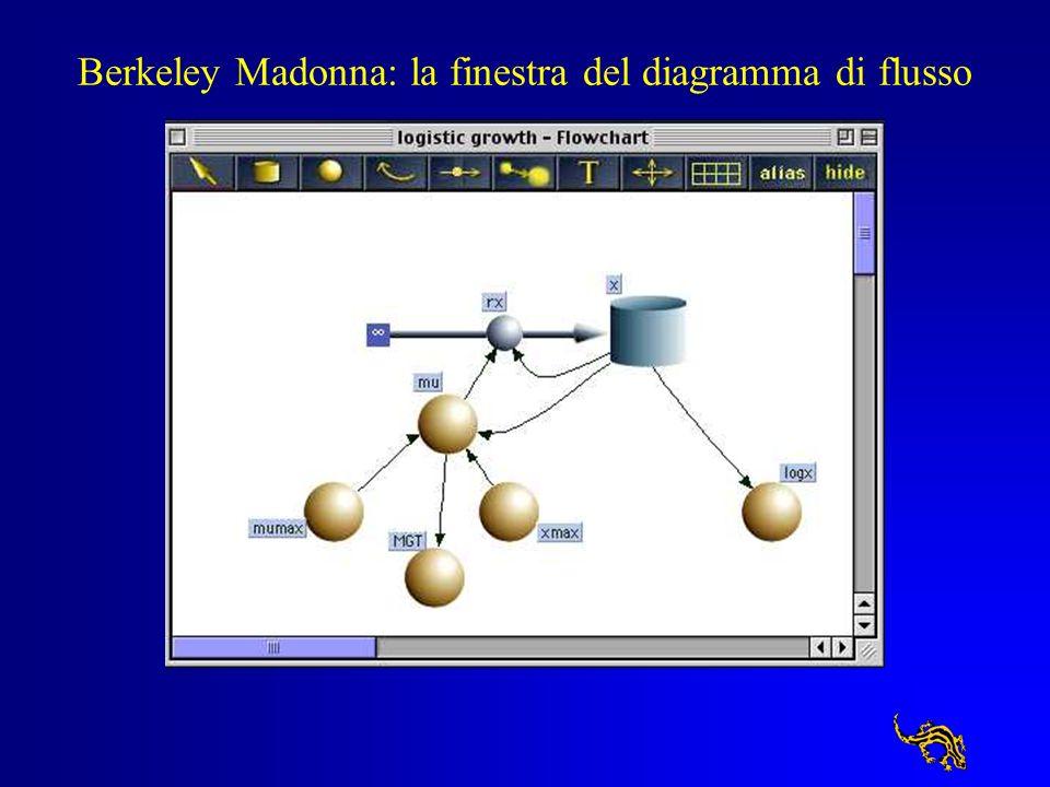 Berkeley Madonna: la finestra dei parametri