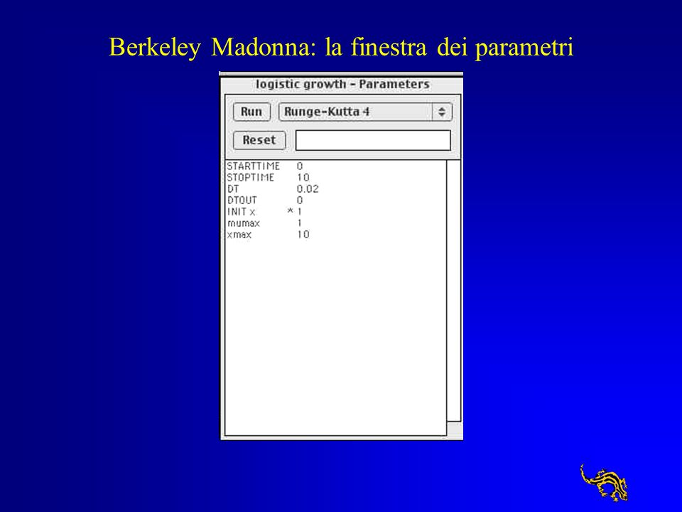 Introduzione all uso Per apprendere i primi elementi dell uso di Berkeley Madonna apri il modello 5 minutes tutorial dall aiuto e esegui gli esercizi 5 minutes tutorial