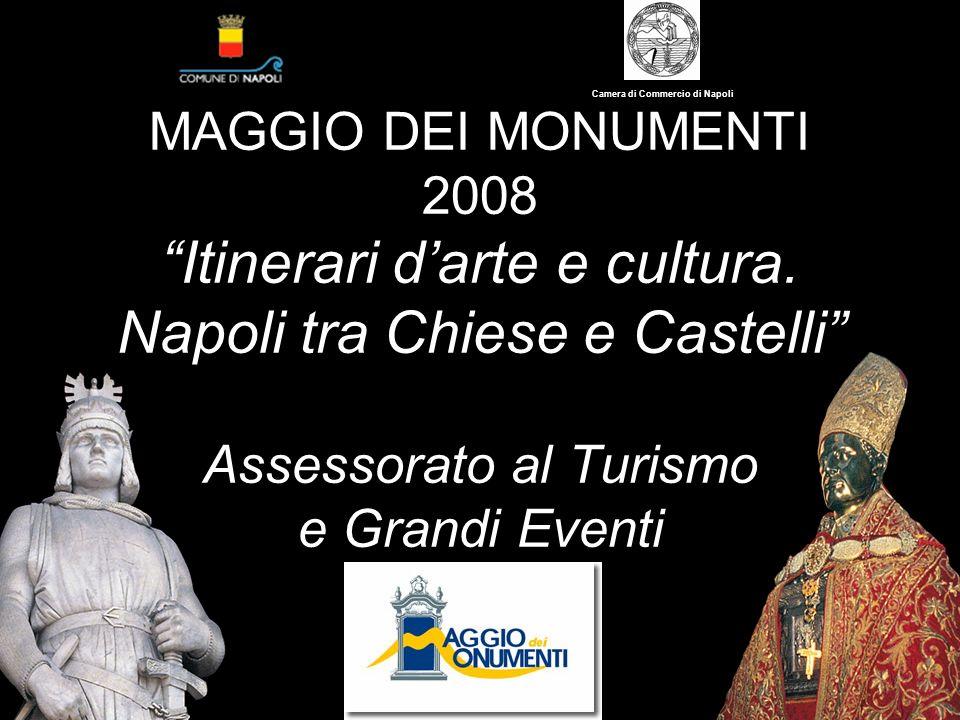 MAGGIO DEI MONUMENTI 2008 Itinerari darte e cultura. Napoli tra Chiese e Castelli Assessorato al Turismo e Grandi Eventi Camera di Commercio di Napoli