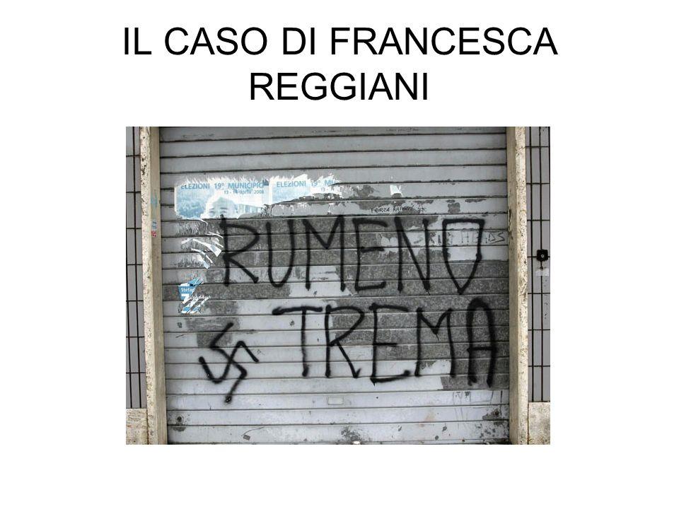 IL CASO DI FRANCESCA REGGIANI