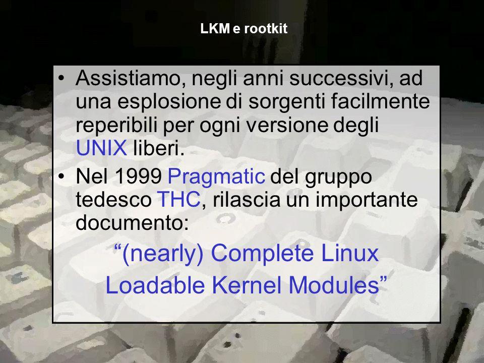 Assistiamo, negli anni successivi, ad una esplosione di sorgenti facilmente reperibili per ogni versione degli UNIX liberi. Nel 1999 Pragmatic del gru