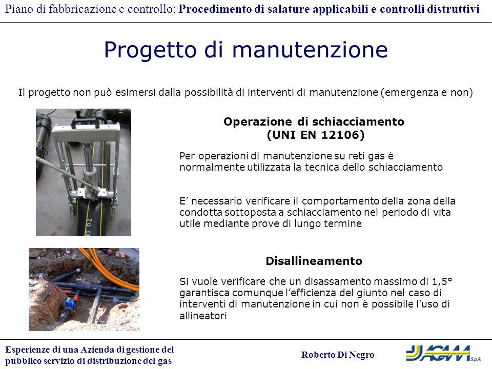 Esperienze di una Azienda di gestione del pubblico servizio di distribuzione del gas Roberto Di Negro Piano di fabbricazione e controllo: Procedimento