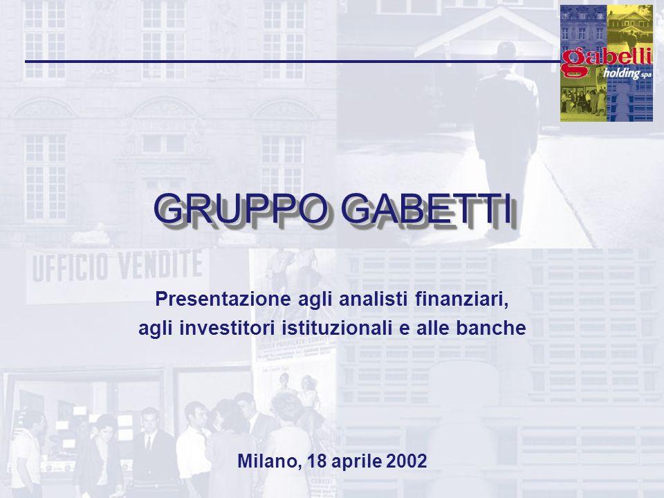 GRUPPO GABETTI Presentazione agli analisti finanziari, agli investitori istituzionali e alle banche Milano, 18 aprile 2002