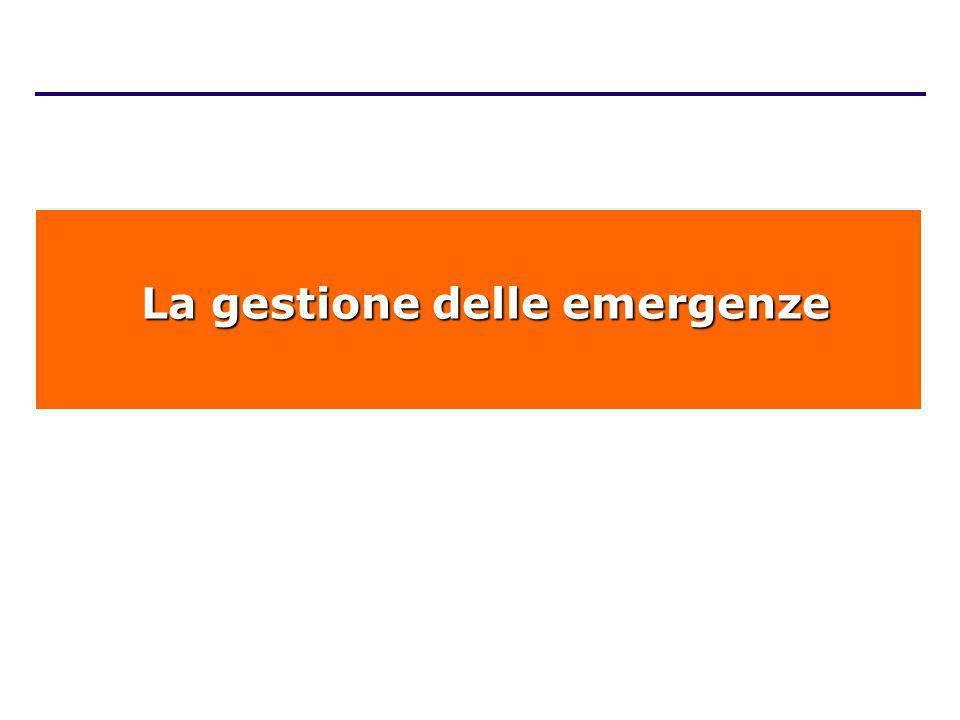 La gestione delle emergenze La gestione delle emergenze