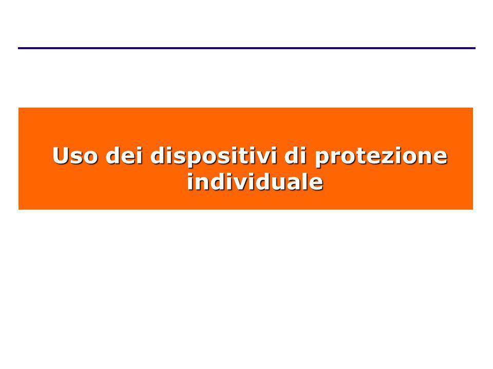 Uso dei dispositivi di protezione individuale Uso dei dispositivi di protezione individuale
