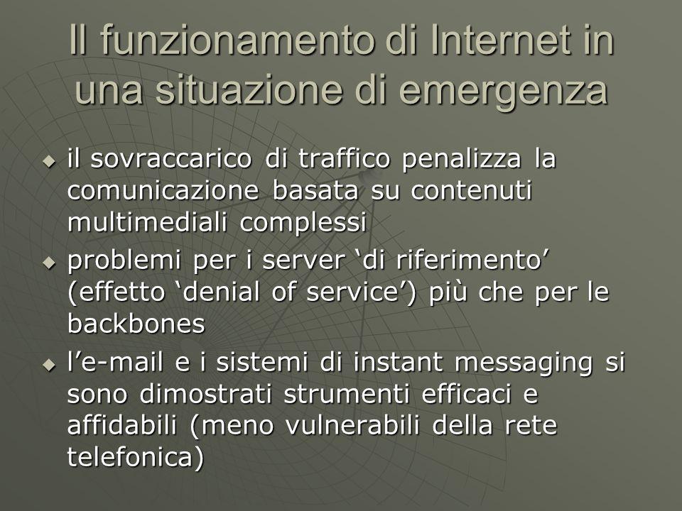 Il funzionamento di Internet in una situazione di emergenza New York City, September 11, 2001 by Mike Daisey September 11, 2001; 1:52 p.m.