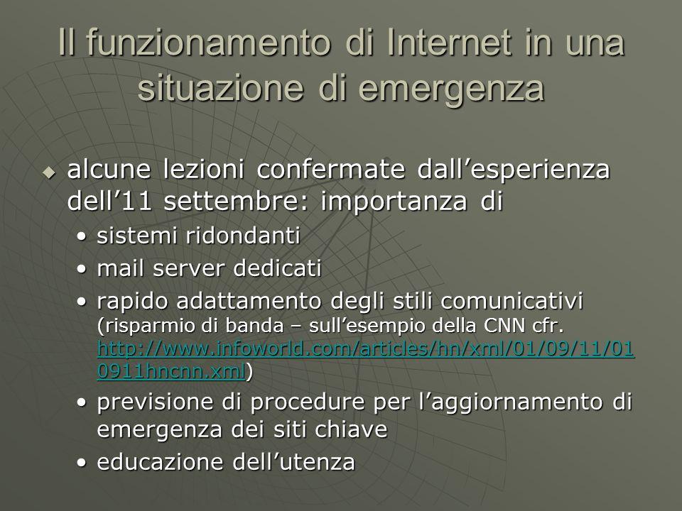 Il funzionamento di Internet in una situazione di emergenza Rapido adattamento degli stili comunicativi: lesempio CNN La pagina in un giorno normale