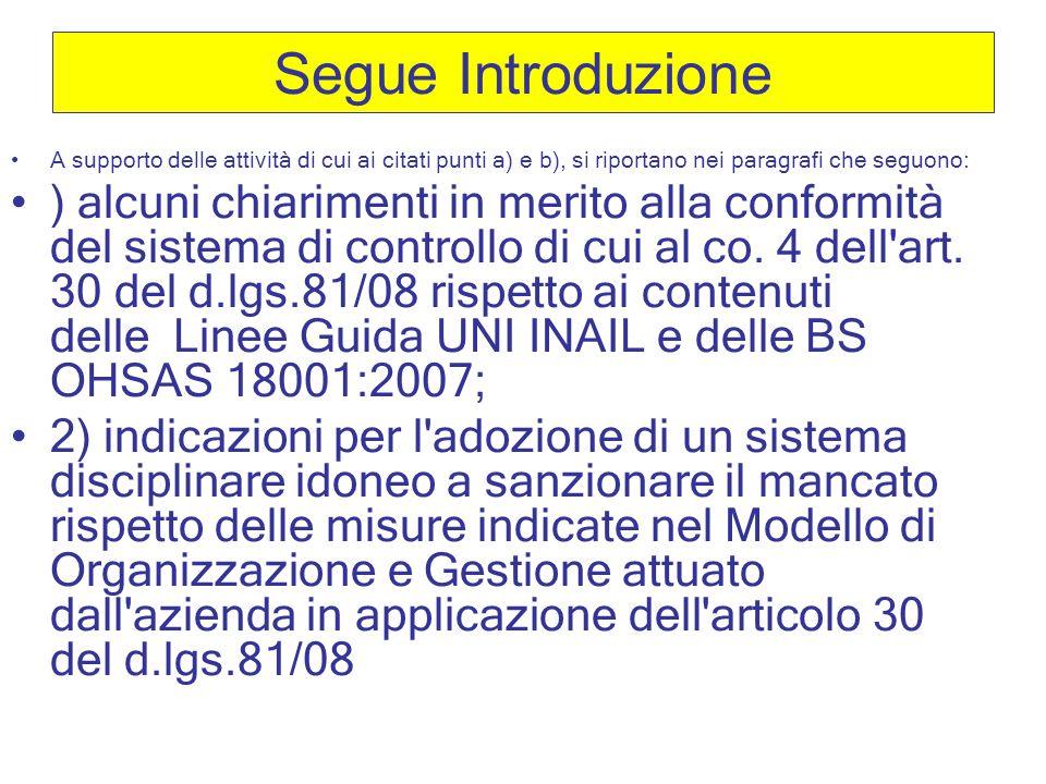 Segue Introduzione A supporto delle attività di cui ai citati punti a) e b), si riportano nei paragrafi che seguono: ) alcuni chiarimenti in merito al