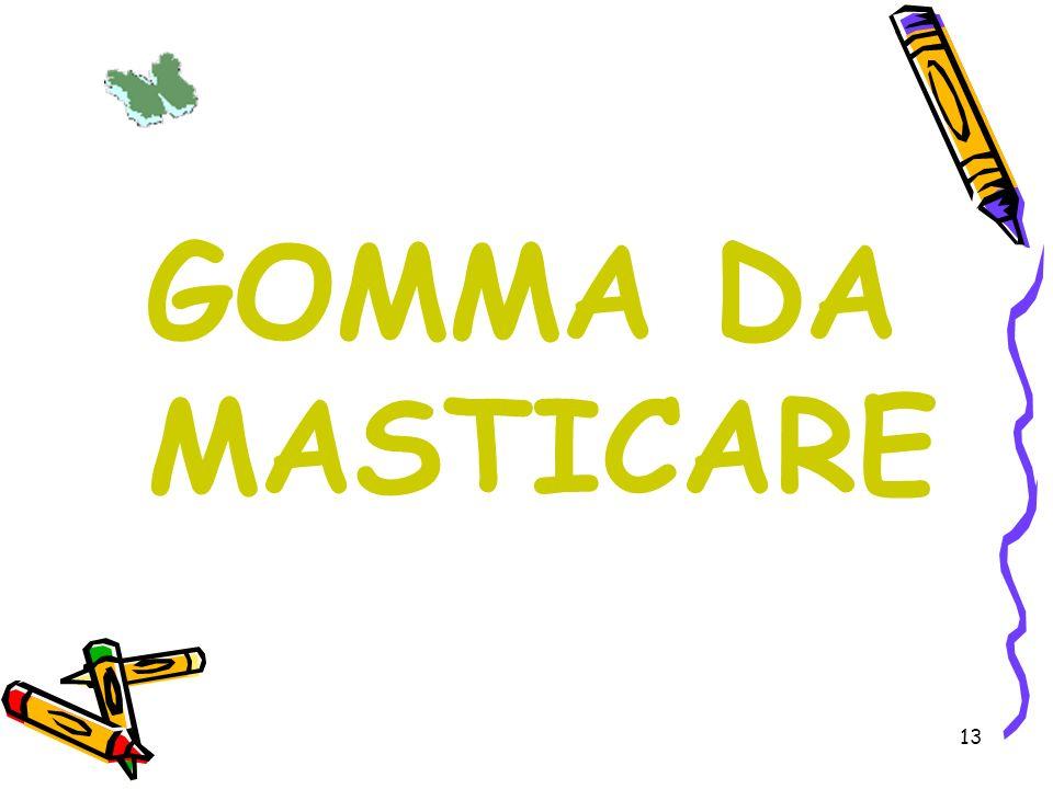 13 GOMMA DA MASTICARE