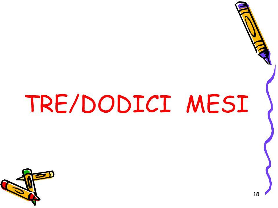 18 TRE/DODICI MESI