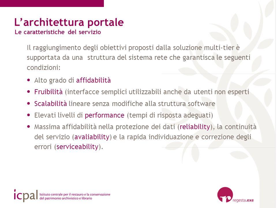 Il raggiungimento degli obiettivi proposti dalla soluzione multi-tier è supportata da una struttura del sistema rete che garantisca le seguenti condiz