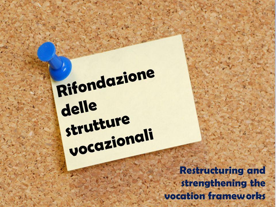 Rifondazione delle strutture vocazionali Restructuring and strengthening the vocation frameworks