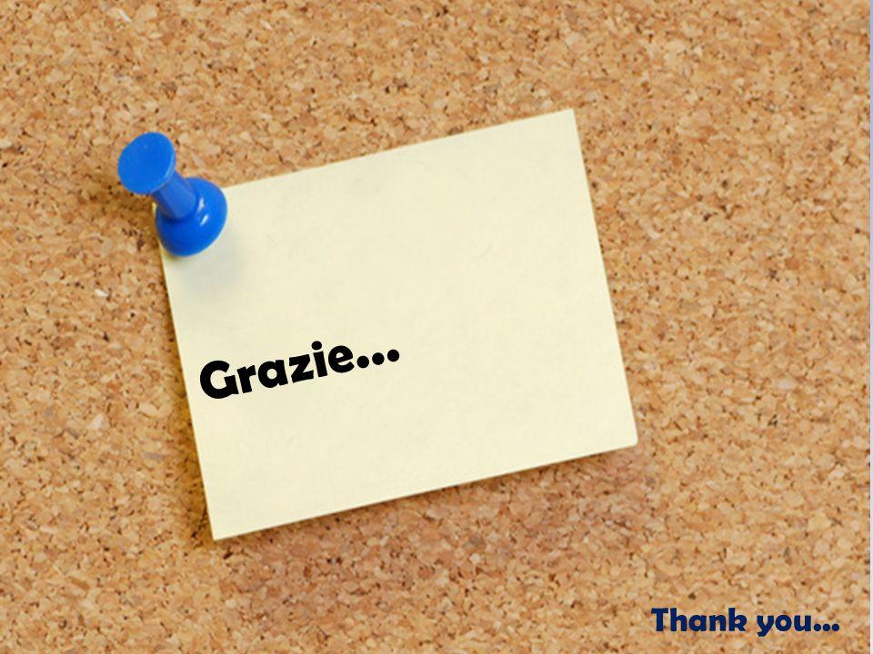 Grazie... Thank you...