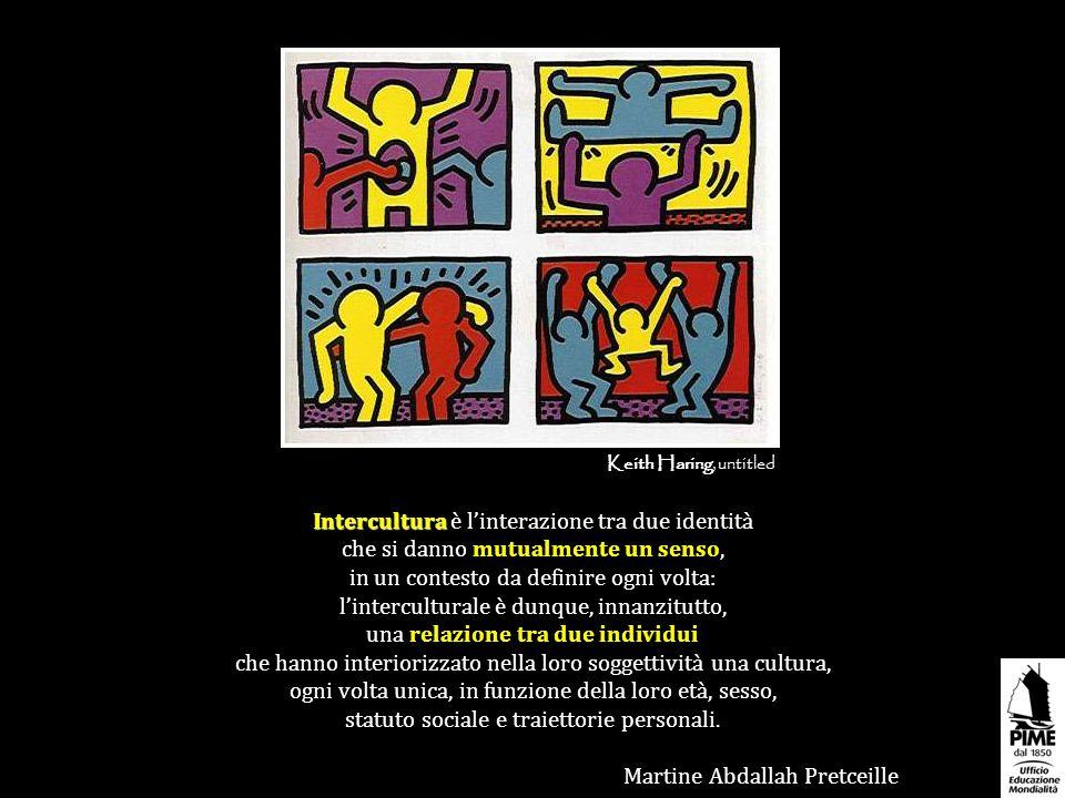 Intercultura Intercultura è linterazione tra due identità che si danno mutualmente un senso, in un contesto da definire ogni volta: linterculturale è
