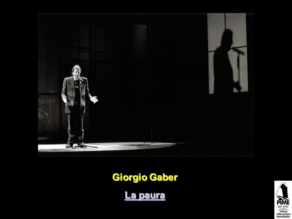 Giorgio Gaber La paura La paura