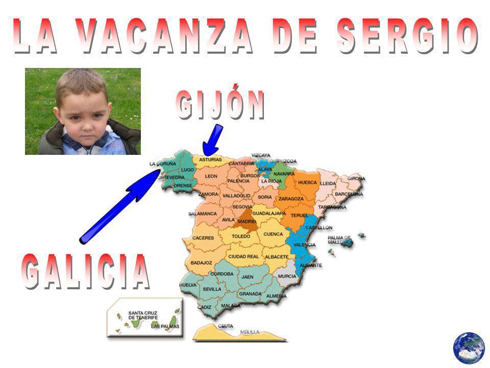 Sergio è stato nel villaggio di suo padre, si chiama Rial, e La Coruña (Galizia).