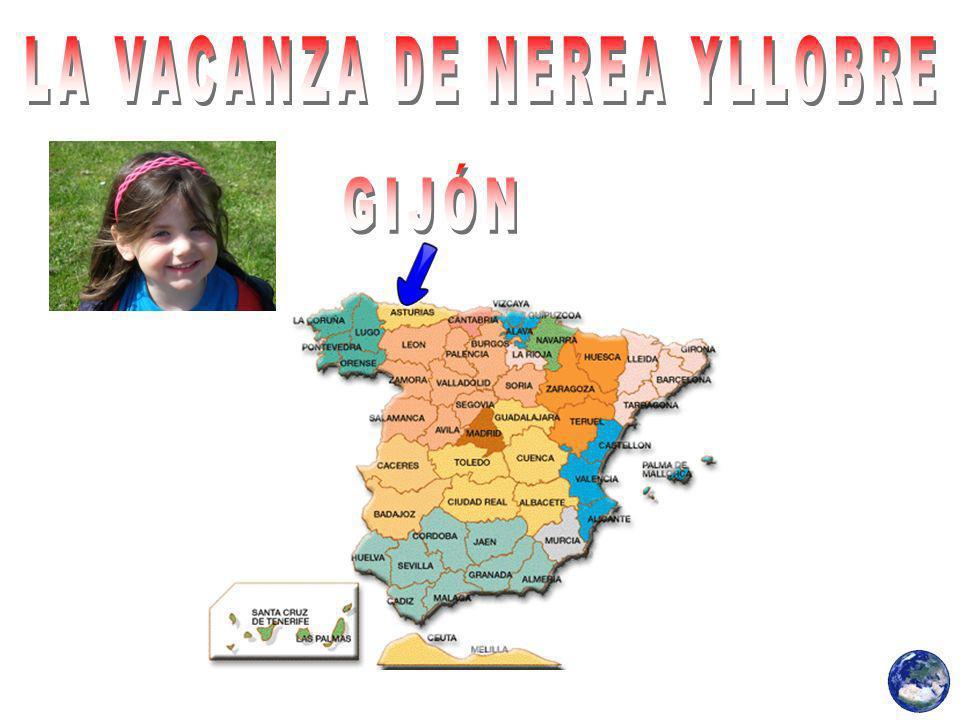 Nerea Yllobre trascorso la sua divertente vacanza a Gijon.