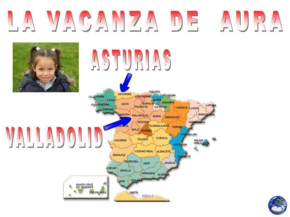 Aura è stato a Valladolid, con la lui sorella Alana e per lei Loli nonna.