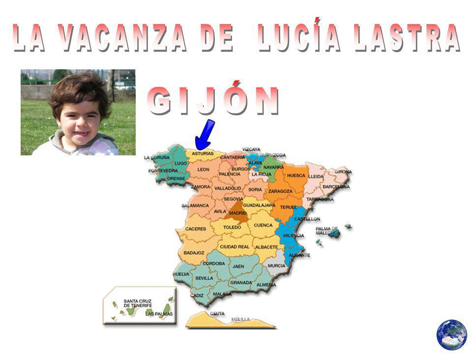Lucía Lastra era in un campo estivo urbano è stato fatto in una scuola di Gijón.
