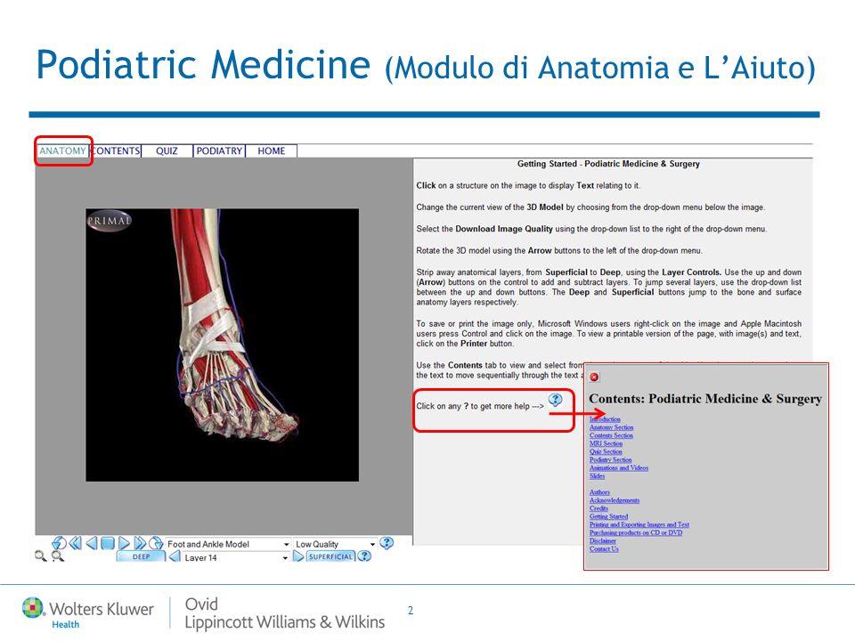 2 Podiatric Medicine (Modulo di Anatomia e LAiuto)
