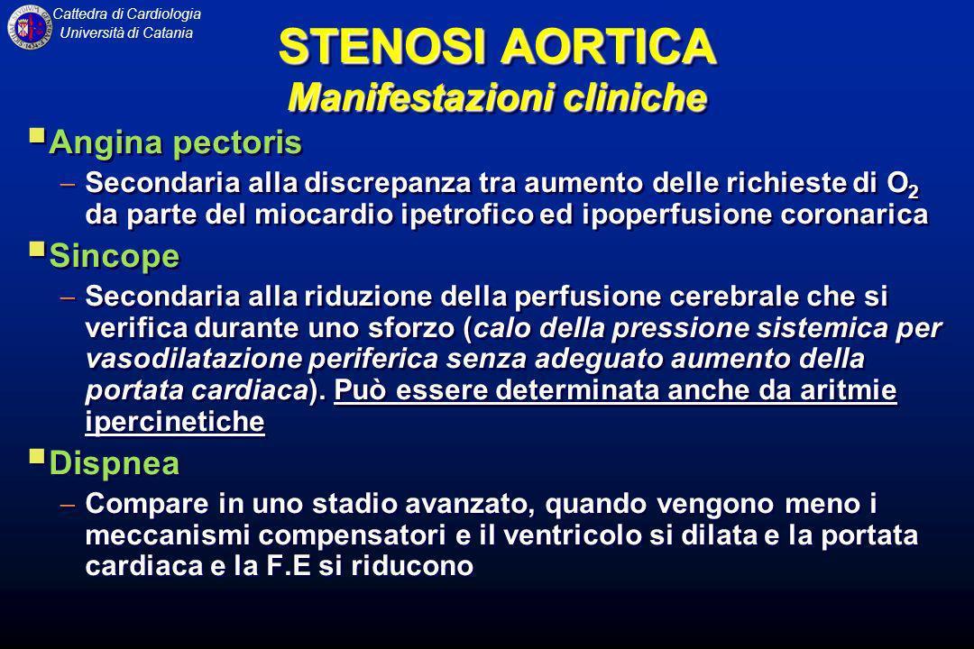 Cattedra di Cardiologia Università di Catania Angina pectoris Secondaria alla discrepanza tra aumento delle richieste di O 2 da parte del miocardio ip