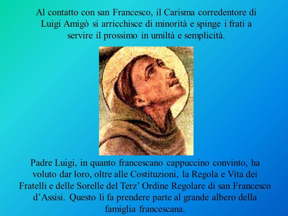 Padre Luigi, in quanto francescano cappuccino convinto, ha voluto dar loro, oltre alle Costituzioni, la Regola e Vita dei Fratelli e delle Sorelle del