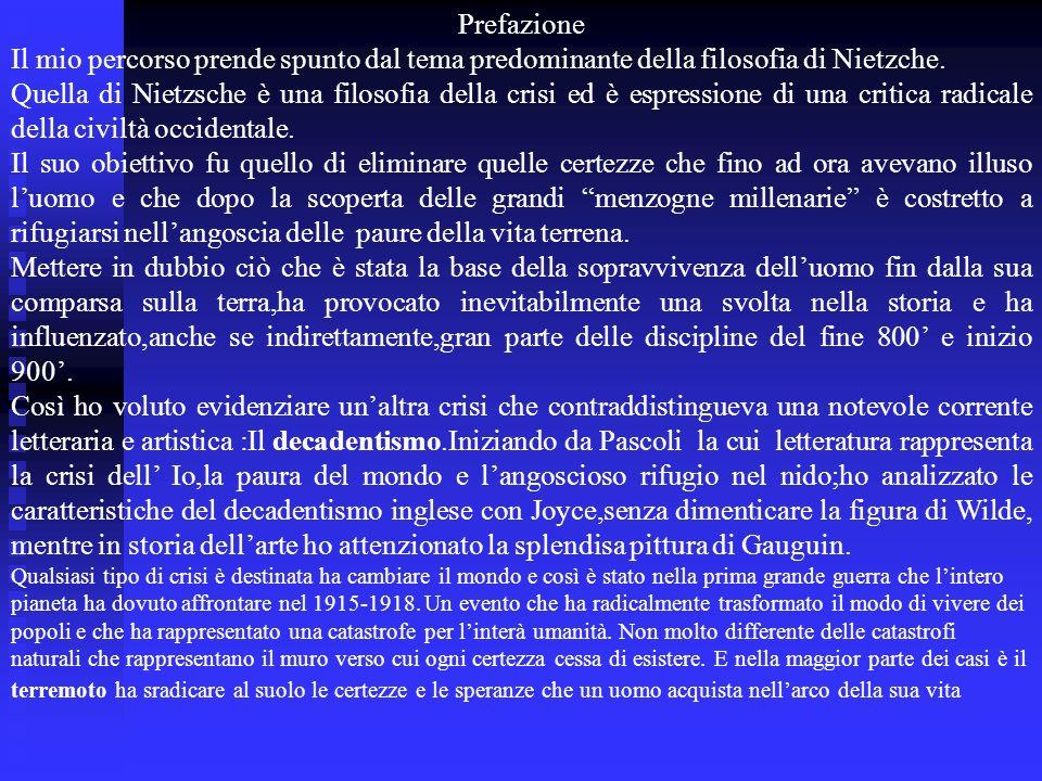 Costanzo Salvatore A cura di Percorso iniziale per lesame di stato 2001/02 Liceo Scientifico Ettore Majorana Scordia Classe VB La crisi delle certezze