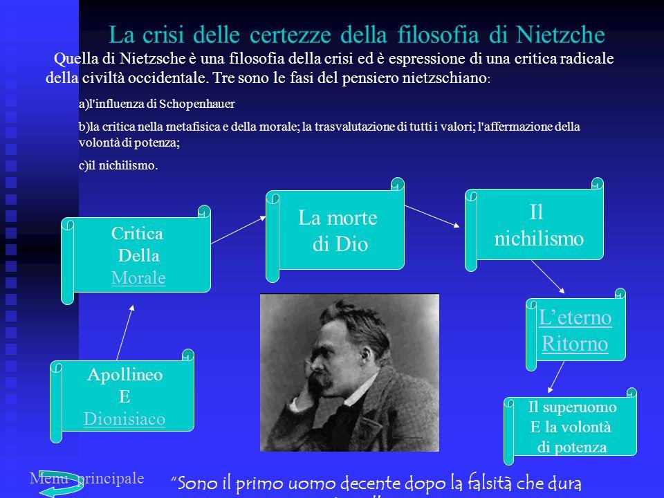 Quella di Nietzsche è una filosofia della crisi ed è espressione di una critica radicale della civiltà occidentale.